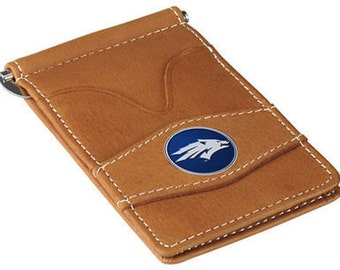 Nevada Wolfpack Tan Leather Wallet Card Holder
