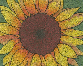 "Sunflower Print 12"" x 12"""