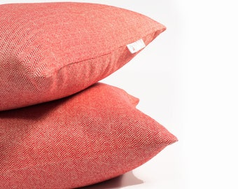 OUTDOOR Pillow cover, decorative cushions in Sunbrella Chevron Red, Sunbrella fabric