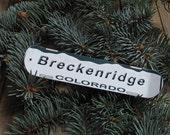 Colorado License Plate, Snowboard Holiday Ornament, create a vacation keepsake !