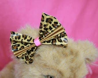 Medium Duck Tape Bow *Leopard Print*