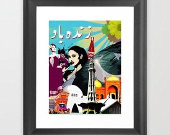 Art Print: Pakistan Zindabad