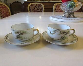 FRANCE HAVILAND LIMOGES Teacups and Saucers