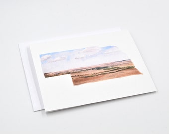 Nebraska State Notecards - Blank Notecards - Nebraska Gift - Watercolor Notecards - Nebraska State Art - Gifts Under 15 - Stocking Stuffer