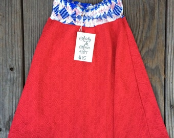 SALE* Up-Cycled, 4-5T, Maxi Skirt