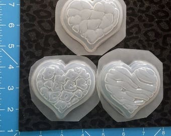 Animal print heart molds