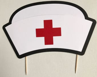 Nurse Hat Cake Topper