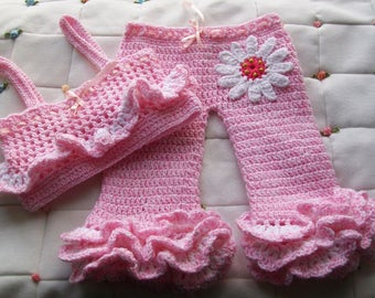 Crochet Pattern, Baby Crochet Pattern, Girl Pants Pattern, Crochet Top Pattern, Set of 2 Pattern, Summer Pattern, Crochet Baby Pattern