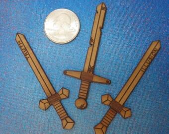 Wooden Sword Stickers