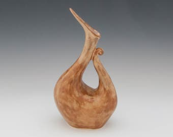 Small Brown Pitcher/Vase. Pottery pitcher, ceramic pitcher, ceramics and pottery.