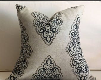 Pillow Cover, Black and Beige Blend Pillow Cover