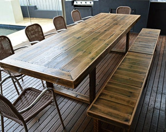 Outdoor dining table Etsy