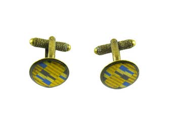 vintage cuff links, wedding cufflinks, african print cufflinks, groomens cuff links, yellow, cufflinks for dad, coomon, quebec, tie and suit