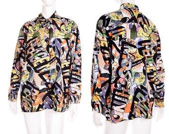 Moschino Jeans Vintage 90s Happy Mondays Peter Saville Print Shirt