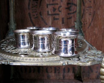 Silver Napkin Rings, Set Of Napkin Rings, Engraved Napkin Ring, Six Napkin Rings, Napkin Holders, Vintage Napkin Rings, Downton Abbey