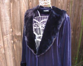 Windsmoor Cape, Evening Cape, Evening Cloak, Velvet Cape, Velvet Cloak, Downton Abbey, Faux Fur Collar, Evening Coat, UK Size 18, Plus Size