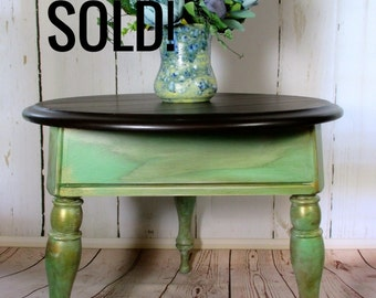 SOLD !!! CoffeeTable, Hand Painted, Furniture, Accent Table, Painted Furniture, Living Room Furniture, End Table SOLD!