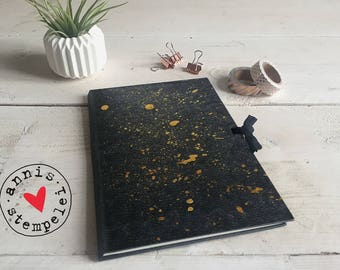 "Sketch book/workbook - ""Gold speckles"", grey, 15 x 22"