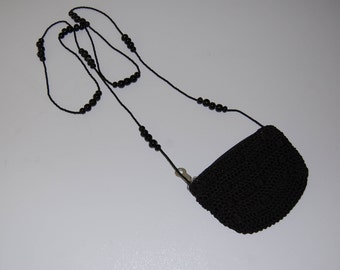 Mini Crochet purse with beaded strap
