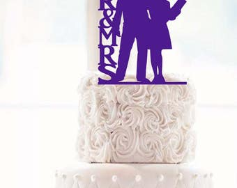 Mr & Mrs Police Officer and Nurse Wedding Cake Topper police Cake Topper nurse cake topper police officer cake nurse topper  police topper