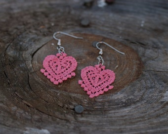 Lace Earrings - Lightweight, multiple colors available