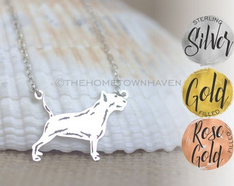 Bull Terrier Necklace - Terrier dog breed, Bull Terrier Dog Necklace
