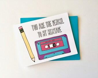 Mixed Tape  // Single Card + Envelope