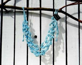 Tribal necklace knit jewelry necklace bib necklace colorful necklace bright necklace knit statement necklace  cotton knit jewelry