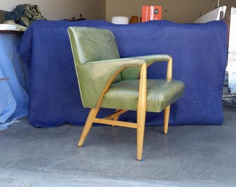Leather Armchair Etsy