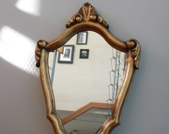 Mirror gold vintage - very good condition