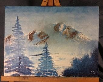 Foggy Winter in Blue
