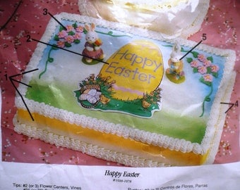 Vintage Wilton Happy Easter Cake Decorating Kit 1991 New in Package