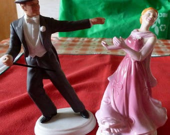 """AVON Fred Astaire and Ginger Rogers """"The Barkleys of Broadway"""" Images of Hollywood Figurines"""