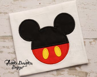 Mickey Mouse Head Applique Machine Embroidery Design, Girl, Boy, Mickey Mouse, Minnie Mouse, Disney, Monogram, Birthday, 4x4, 5x7, 6x10, 9x9