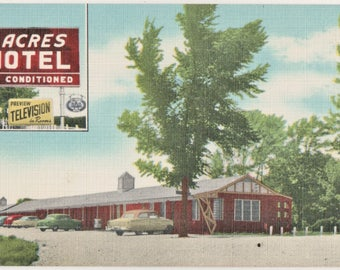 Vintage Motel Postcard 7 Acres AAA Motel Wentzville Missouri