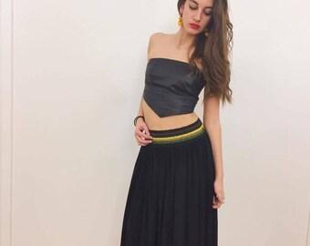 Handmade tulle skirt / Black tulle skirt petticoat / Black tulle skirt / Skirt pinup rockabilly / Black tutu skirt petticoat