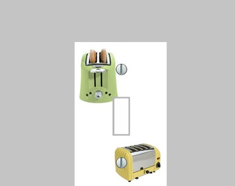 Light Switch Plate Cover Yellow greenToasters Kitchen Wall Art Home Decor Cafe