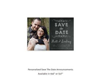 Save The Date, Engagement Announcement, Wedding Save The Date, Graduation Save The Date, Graduation Open House, Graduation Party, Chalkboard