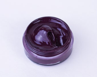Vegan Lip Gloss : LINCOLN Lip Catnip. Dark purple lip gloss. Vampy lip gloss.
