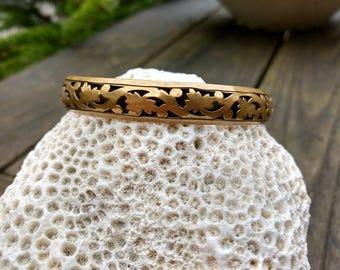 Vintage Brass Bangle - Brass Jewelry - Brass Bangle Bracelets