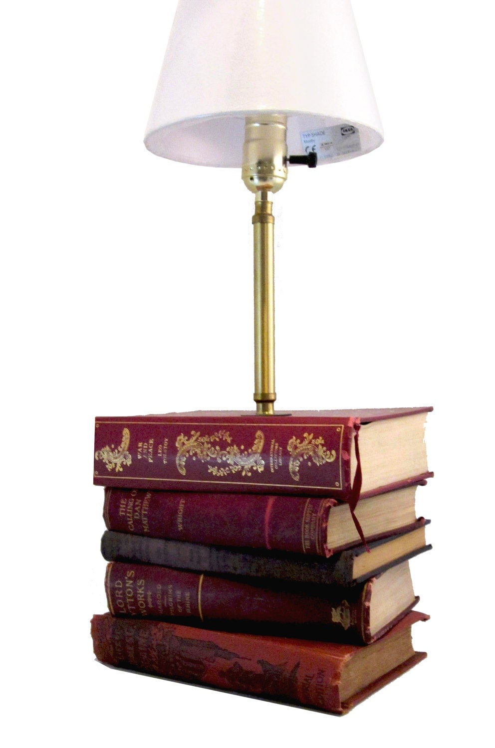 Uncategorized Book Decor book lover gift table lamp bookish decor book