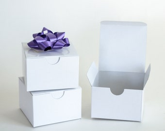 White Gift Boxes, 25 Small Gift Boxes, Paper Boxes, White Favor Boxes, Gift Boxes, Wedding Gift Boxes 3 x 3 x 2""