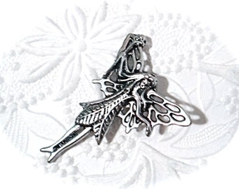 Fairy Pendant Pewter Jewelry Supplies Findings RB-194