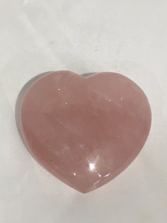 Beautiful Carved ROSE QUARTZ Heart Healing Gemstone// Crystal HEART// Carved Heart Stones// Healing Crystals// Love Crystals// Love Stone