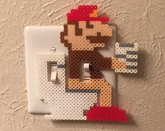 Mario Bathroom Perler Bead Light Switch Cover