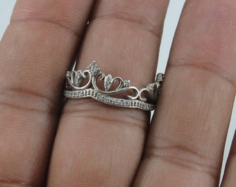 Sterling Silver Crown Ring Size 10
