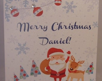 Personalised Handmade Christmas Card