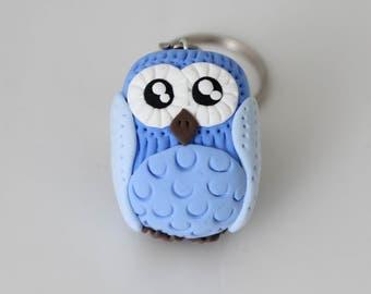 Light blue  Owl Keychain