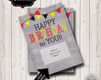 INSTANT DOWNLOAD -Birthday Gift Card Printable - BDAY003b - Birthday gift card holder, gift idea for girls, women, ladies, sparkle and shine