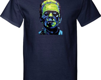 Men's Frankenstein Face Tall Tee T-Shirt 20719NBT2-PC61T